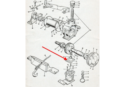 Hydraulic Pump / Motor to PTO Adaptor & Winch Gearbox Gasket 580007 (RTC7204)