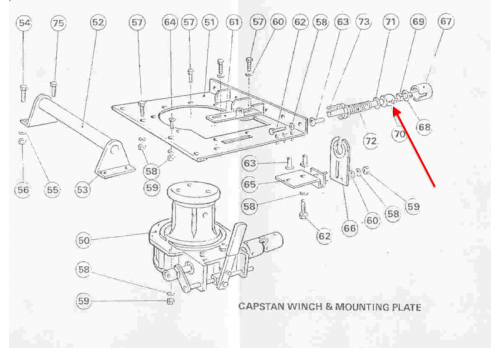 Fairey Capstan Winch Driveshaft (Land Rover Series 2 2a 3) 444-A3