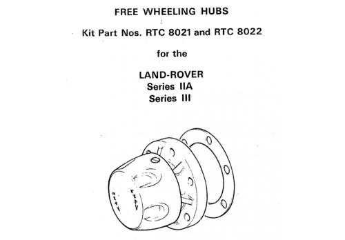 Fairey Free Wheeling Hub Parts List & Instructions