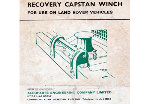 Land Rover Series 2 2a 3 Aeroparts Capstan Winch Parts List & Fitting Instructions 1971 Edition